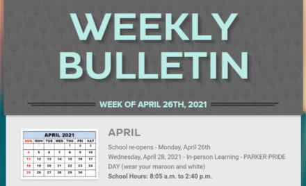 Parker Weekly Bulletin - 4-26-2021